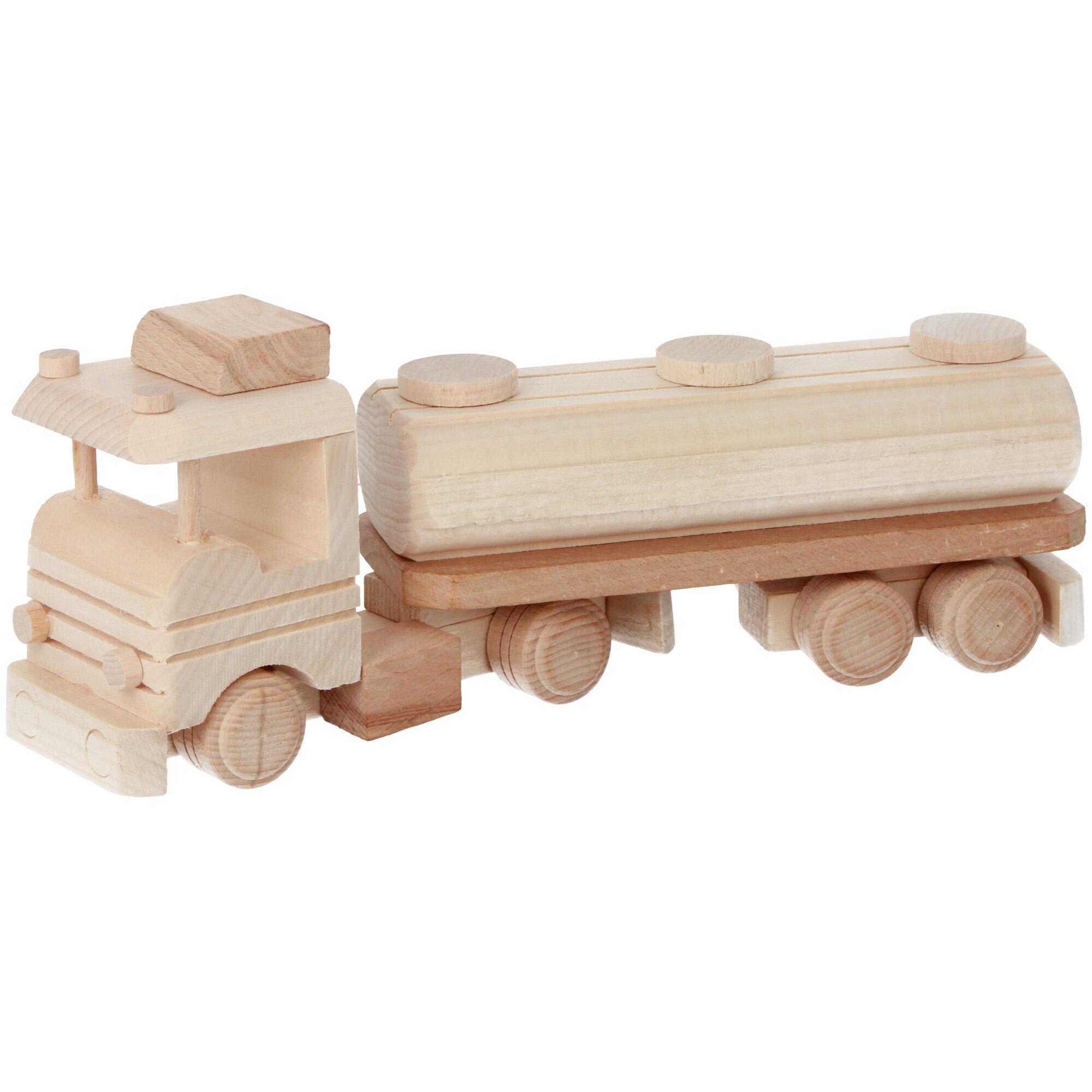 cieżarówka drewniana